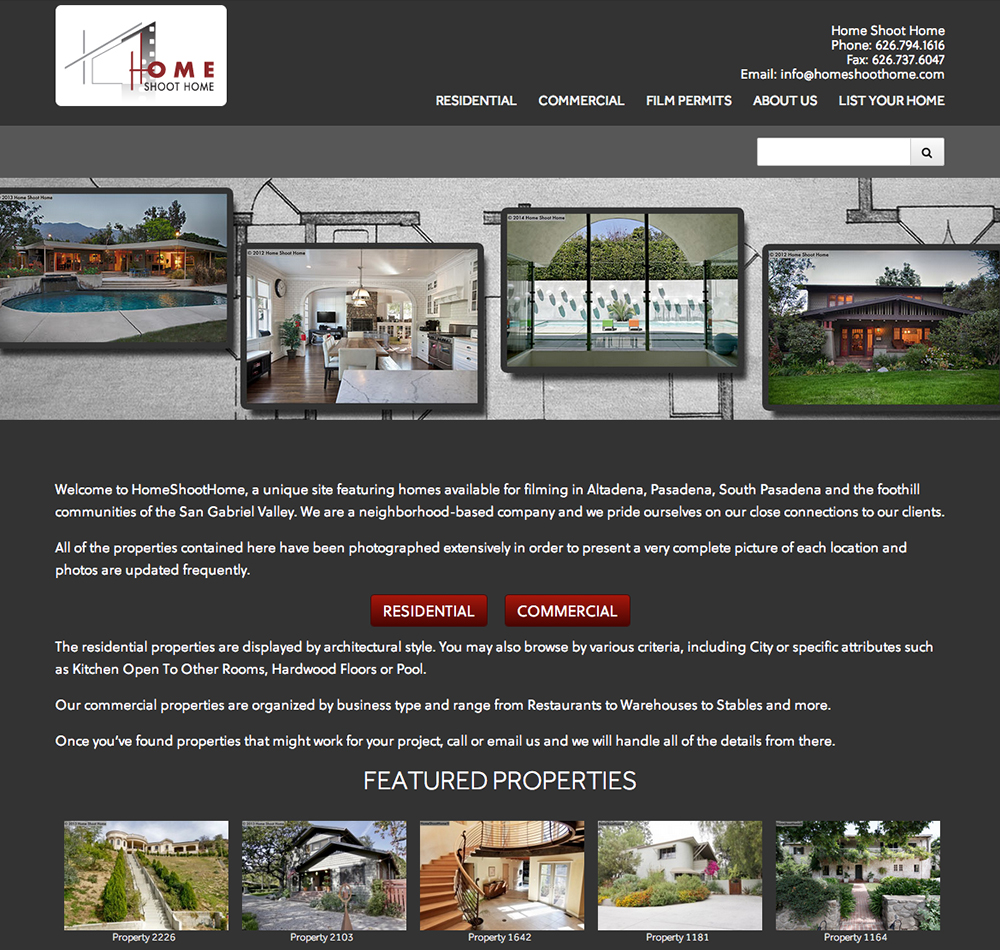Home Shoot Home Works With Film Location Scouts And Homeowners Who Want To  Rent Their Properties For Use As Film Sets. This Website Features An  Extensive ...